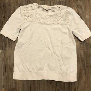LOFT size M white half sleeve sweater shirt